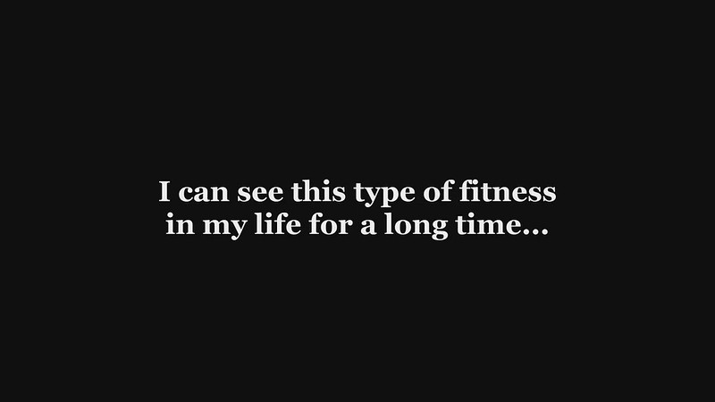 I can see this type of fitness for a long time