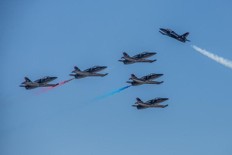 Patriots Jet Team (6 IL-39s)