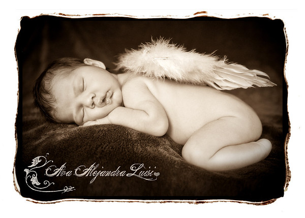 Ava's anouncement card Front 1 2011