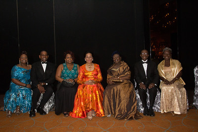 Steine Campbell, Emile Ledee, Yolande Phelps, Dame Marguerite Pindling, Frances Ledee, Senator Joseph Curry, Terez Curry, Co-chair for the Annual Red Cross Ball.