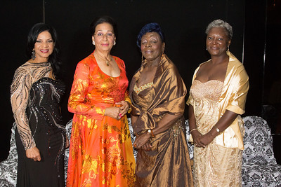 Mavis Burrows, Co-chair of the Red Cross Ball, Dame Marguerite Pindling, Frances Ledee, Terez Curry, Co-chair for the Annual Red Cross Ball.