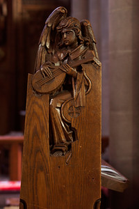 Choir Stall Figure: Angel Playing the Lute