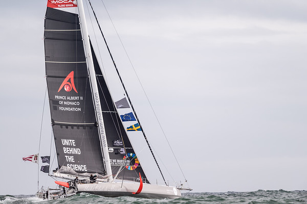 """14/08/2019 - Plymouth (UK) - © Ricardo Pinto    <a href=""""http://www.rspinto.com"""">http://www.rspinto.com</a> - Team Malizia & Greta Thunberg departing from Plymouth for a zero-emissions Atlantic crossing, finishing in New York."""