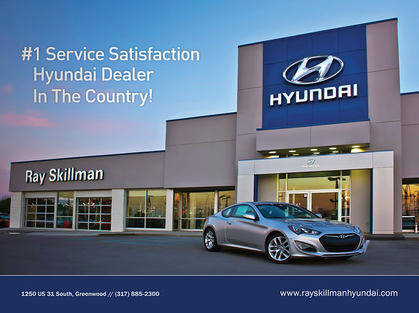 "Fall 2013 Ad on back cover of ""South"" Magazine For Ray Skillman Southside Hyundai Dealership"