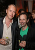 From left, artists Christian Jankowski and Gabriel Kuri pose during the reception for the inaugural exhibition at Regen Projects' new Hollywood gallery on Saturday, Sept. 22, 2012, in Los Angeles, Calif. (Courtesy, Regen Projects, Los Angeles © Ryan Miller/Capture Imaging)