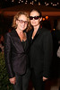 From left, Ann Philbin and Lisa Love pose during the reception for the inaugural exhibition at Regen Projects' new Hollywood gallery on Saturday, Sept. 22, 2012, in Los Angeles, Calif. (Courtesy, Regen Projects, Los Angeles © Ryan Miller/Capture Imaging)
