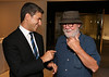 From left, Michael Govan, LACMA and artist Paul McCarthy talk during the reception for the inaugural exhibition at Regen Projects' new Hollywood gallery on Saturday, Sept. 22, 2012, in Los Angeles, Calif. (Courtesy, Regen Projects, Los Angeles © Ryan Miller/Capture Imaging)