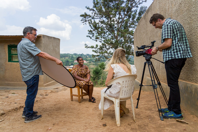 Odethe gives her testimony to the PEACE team in an interview in Kigali Rwanda.