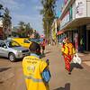 Street scene on a sunny summer morning in Kigali Rwanda.