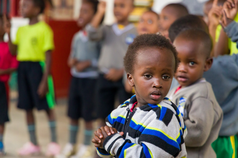 Pre-school children at recess in a PEACE sponsored school in Kigali Rwanda
