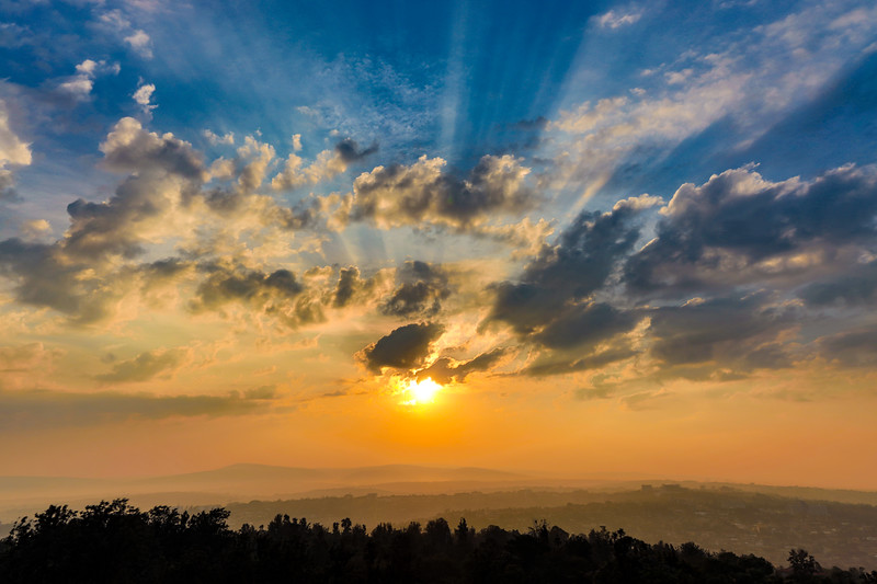 Sunrise over Kigali