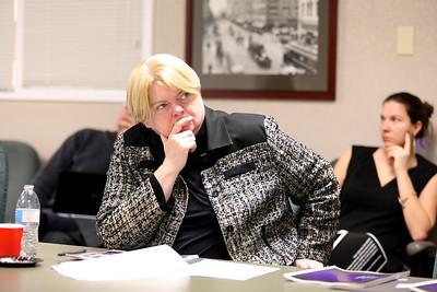 ESC Panel member Lial Jones of the Crocker Art Museum listens to a second-round presentation.