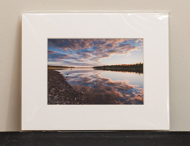 SALE DETAILS:   8x10 Matted print (in protective package)                             $10 (does not include sales tax or shipping).  Original price: $40/each  IMAGE DETAILS: 081806-083-2 Attawapiskat Sunset