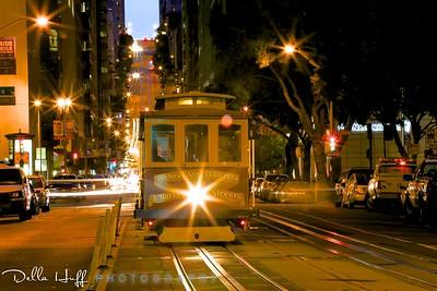 Cable Car at Night - California Street