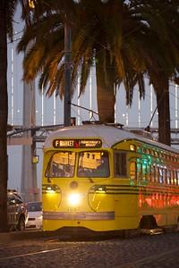 F Market Streetcar with Bay Bridge II