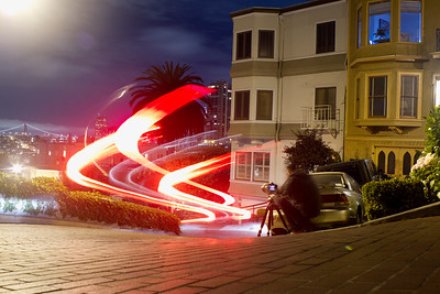 lombard street long exposure