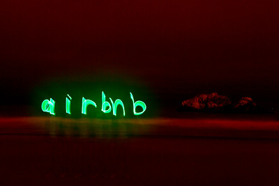 airbnb light painting