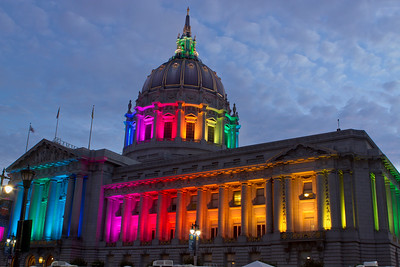 city hall during pride weekend