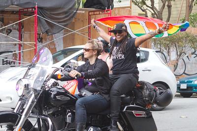dyke march bikers