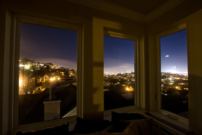 alex's view, nighttime