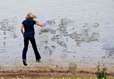 Malia tries to defy gravity