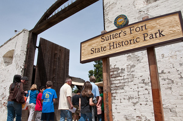 Entrance to Sutter's Fort, built in 1845