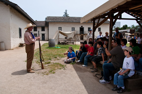 Musket demonstration at Sutter's Fort