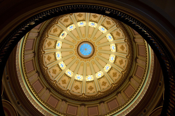 The magnificent rotunda of the Capitol Building