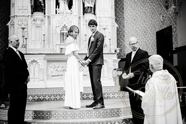 Kaelie and Tom Wedding 01C - 0117bw