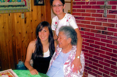 Granma with daughter Veronica and granddaughter Anna July 1st, 2007