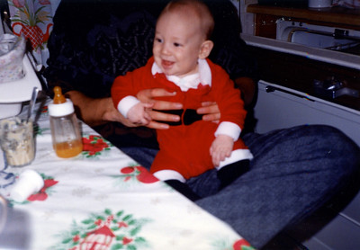 Christmas 1987 Alex 4 months old