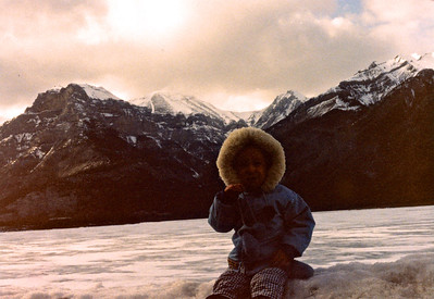 Fri, March 29/91 Going to Banff to pick Ryan up. Lac des Arc