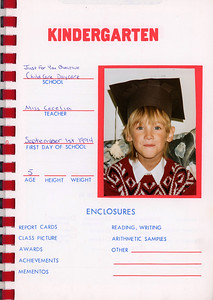 Alex School Years Book Kindergarten