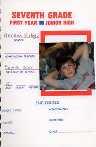 Alex School Years Book  Grade 7