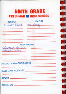 Alex School Years Book  Grade 9