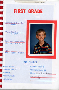 Alex School Years Book  Grade 1