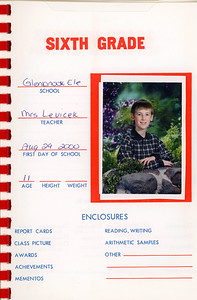 Alex School Years Book  Grade 6