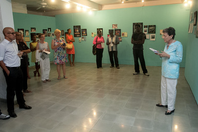 Dr. Gail Saunders opens the Shakespeare in Paradise - Five Years in Poster Art show with a few words.