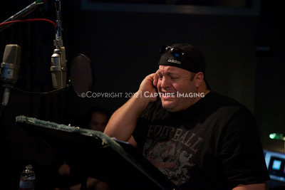 """1202025-048        CULVER CITY, CA - FEBRUARY 24: The Sony Pictures voice over session with Adam Sandler and Kevin James for """"Hotel Transylvania on February 24, 2012 in Culver City, California. (Photo by Ryan Miller/Capture Imaging)"""