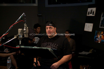 "1202025-002        CULVER CITY, CA - FEBRUARY 24: The Sony Pictures voice over session with Adam Sandler and Kevin James for ""Hotel Transylvania on February 24, 2012 in Culver City, California. (Photo by Ryan Miller/Capture Imaging)"