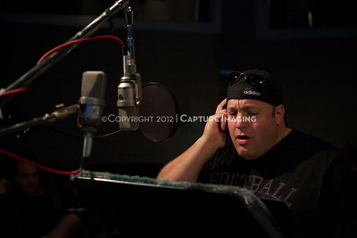 """1202025-028        CULVER CITY, CA - FEBRUARY 24: The Sony Pictures voice over session with Adam Sandler and Kevin James for """"Hotel Transylvania on February 24, 2012 in Culver City, California. (Photo by Ryan Miller/Capture Imaging)"""