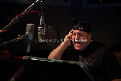 "1202025-030        CULVER CITY, CA - FEBRUARY 24: The Sony Pictures voice over session with Adam Sandler and Kevin James for ""Hotel Transylvania on February 24, 2012 in Culver City, California. (Photo by Ryan Miller/Capture Imaging)"