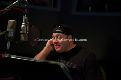"1202025-011        CULVER CITY, CA - FEBRUARY 24: The Sony Pictures voice over session with Adam Sandler and Kevin James for ""Hotel Transylvania on February 24, 2012 in Culver City, California. (Photo by Ryan Miller/Capture Imaging)"