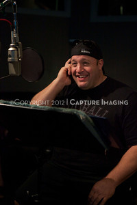 "1202025-008        CULVER CITY, CA - FEBRUARY 24: The Sony Pictures voice over session with Adam Sandler and Kevin James for ""Hotel Transylvania on February 24, 2012 in Culver City, California. (Photo by Ryan Miller/Capture Imaging)"