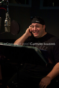 "1202025-007        CULVER CITY, CA - FEBRUARY 24: The Sony Pictures voice over session with Adam Sandler and Kevin James for ""Hotel Transylvania on February 24, 2012 in Culver City, California. (Photo by Ryan Miller/Capture Imaging)"