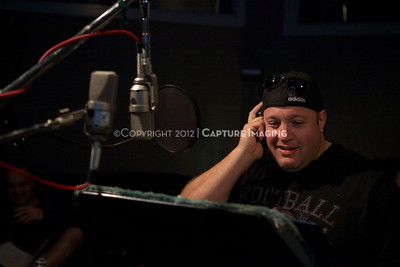 """1202025-027        CULVER CITY, CA - FEBRUARY 24: The Sony Pictures voice over session with Adam Sandler and Kevin James for """"Hotel Transylvania on February 24, 2012 in Culver City, California. (Photo by Ryan Miller/Capture Imaging)"""