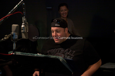 "1202025-021        CULVER CITY, CA - FEBRUARY 24: The Sony Pictures voice over session with Adam Sandler and Kevin James for ""Hotel Transylvania on February 24, 2012 in Culver City, California. (Photo by Ryan Miller/Capture Imaging)"
