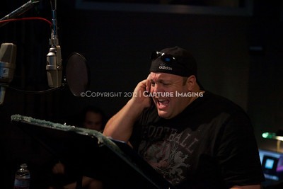 """1202025-046        CULVER CITY, CA - FEBRUARY 24: The Sony Pictures voice over session with Adam Sandler and Kevin James for """"Hotel Transylvania on February 24, 2012 in Culver City, California. (Photo by Ryan Miller/Capture Imaging)"""