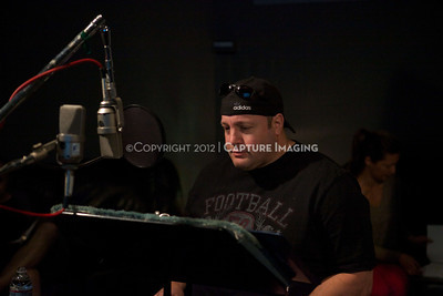 "1202025-023        CULVER CITY, CA - FEBRUARY 24: The Sony Pictures voice over session with Adam Sandler and Kevin James for ""Hotel Transylvania on February 24, 2012 in Culver City, California. (Photo by Ryan Miller/Capture Imaging)"
