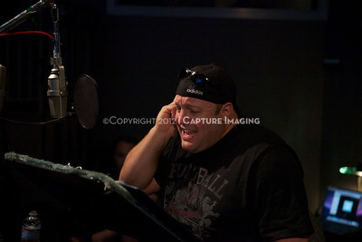 """1202025-037        CULVER CITY, CA - FEBRUARY 24: The Sony Pictures voice over session with Adam Sandler and Kevin James for """"Hotel Transylvania on February 24, 2012 in Culver City, California. (Photo by Ryan Miller/Capture Imaging)"""